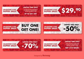 Bannières de vente de la Saint-Valentin