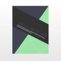 Couverture de la conception du rapport annuel vecteur