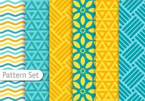 Ensemble de motifs géométriques colorés vecteur
