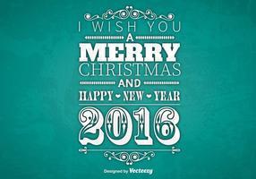 Typographique Merry Christmas design vecteur
