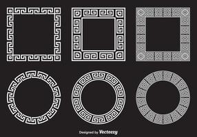 Cadres vectoriels clés grecs gratuits vecteur