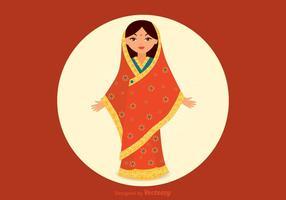 Vecteur girl indien gratuit