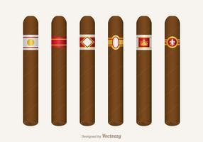 Ensemble de vecteur gratuit d'étiquette de cigarette