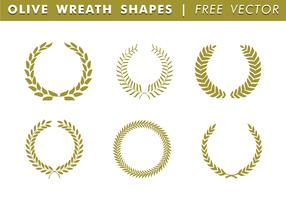 Formes de couronnes d'olives vecteur gratuit
