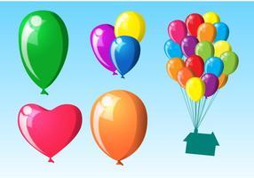 Vecteurs de ballons volants vecteur