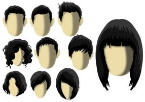 Coiffure - Modèle de cheveux vecteur