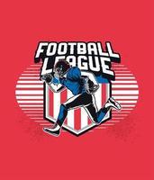 joueur de football, courant, devant, usa, bannière vecteur