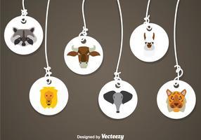 Médailles d'animal vecteur