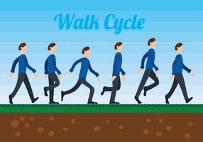 Vecteur de cycle de marche