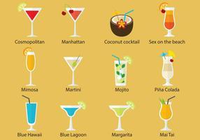 Vecteurs de cocktails vecteur
