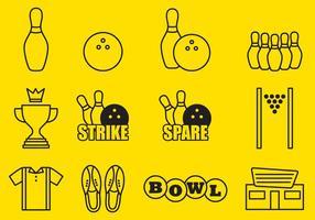 Icônes de bowling