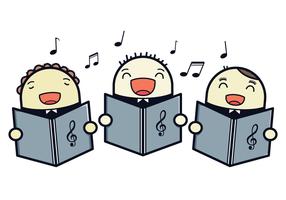 Illustration vectorielle gratuite de chœur pour enfants vecteur