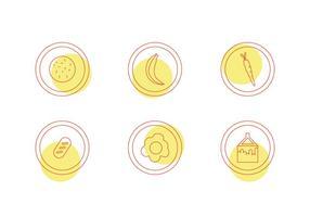 Icônes vectorielles libres de restauration scolaire # 5 vecteur