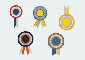 Cockade gratuit avec des illustrations vectorielles de ribbons
