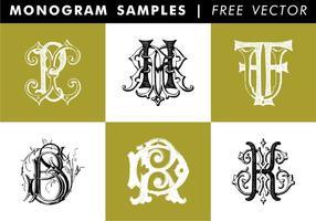 Vecteur libre d'échantillons de monogramme