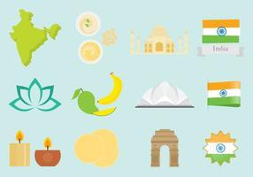 Icônes de l'Inde vecteur