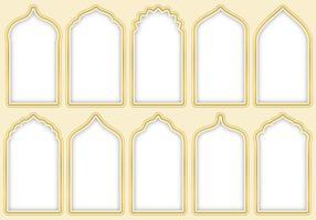 Portes arabesques vecteur