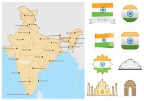 Carte de l'Inde vecteur