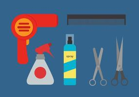 Vecteur d'outils de coiffeur