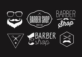 Collection de badges de coiffeur vecteur