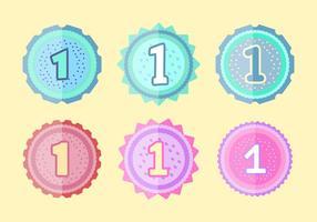 Badges gratuits du 1er anniversaire vecteur