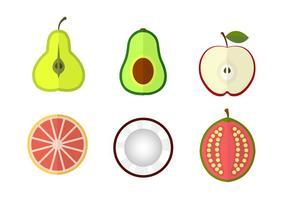 Vecteurs de fruits vecteur
