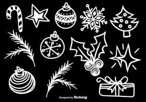 Doodle icônes de Noël vecteur