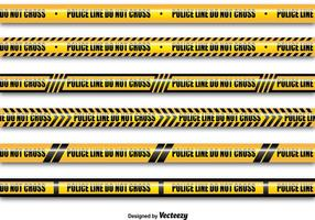 Lignes de police jaune vecteur