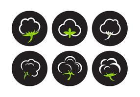 Vecteurs de plantes de coton vecteur