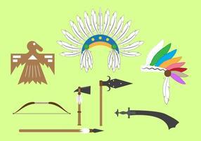 Ensemble vectoriel d'objets et d'éléments indiens