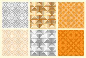 Ensemble de motifs géométriques orientaux vecteur