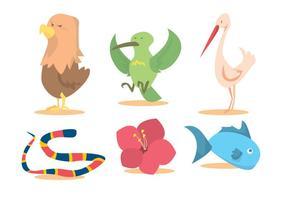 Ensemble de vecteur nature oiseau