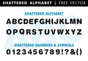 Vecteur libre de l'alphabet brisé