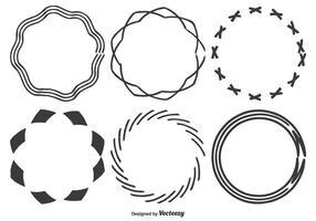 Formes de cadre dessinées à la main vecteur