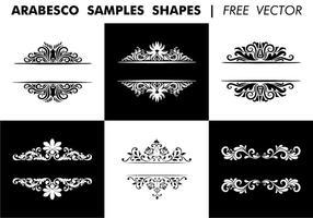 Arabesco Formes d'échantillons Free Vector