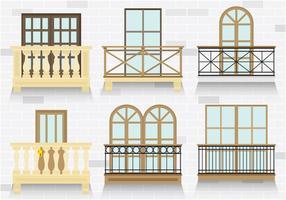 Vecteurs de balcon colorés