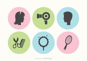 Icônes libres de vecteur de coiffure