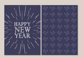 Vecteur de carte gratuite de bonne année
