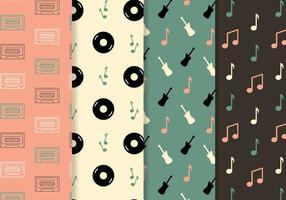 Vecteur de motif de musique gratuit