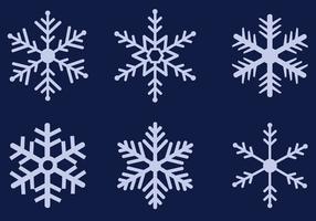 Vecteur de flocons de neige gratuit