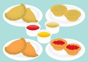 Empanadas et tartes à la viande vecteur