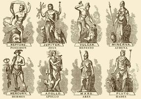 Dieux grecs vecteur