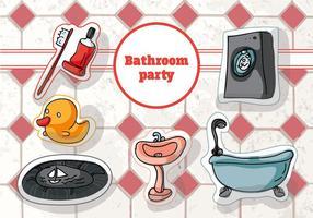 Fond de vecteur de salle de bain décoré à main gratuite