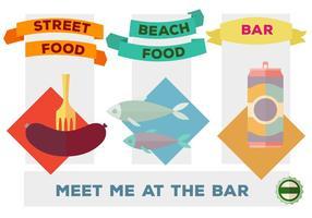 Types de nourriture variés gratuits Vector Background