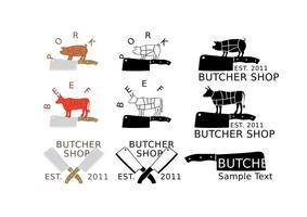 Logos de boucherie et de cliquet
