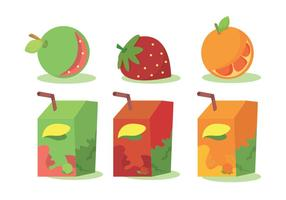 Ensemble de vecteur aux jus de fruits