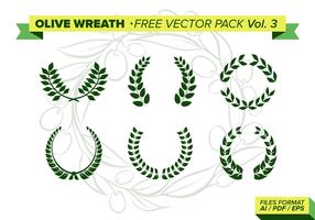 Pack de vecteur gratuit de couronne d'olives Vol. 3