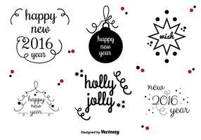 Étiquettes vectorielles du Nouvel An vecteur