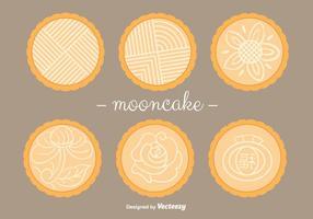 Vecteurs Mooncake vecteur