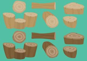 Vecteurs de bois colorés vecteur